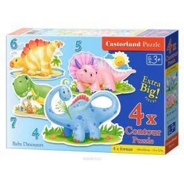 Castorland Пазл для малышей Динозаврики 4 в 1