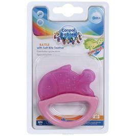 Canpol Babies Погремушка Рыбка с прорезывателем цвет розовый