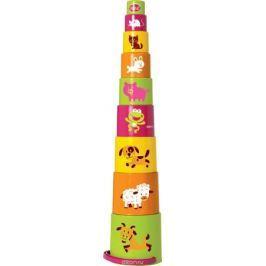 Gowi Набор игрушек для песочницы Ведерко-пирамидка Звери 9 шт