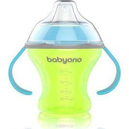 BabyOno Поильник-непроливайка Natural Nursing с мягким носиком от 6 месяцев цвет желтый 180 мл