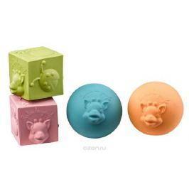 Vulli Набор кубиков и мячиков Жирафик Софи 4 шт
