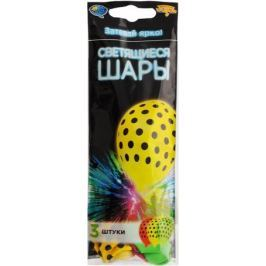 Веселая затея Набор воздушных шариков с подсветкой Горошек 3 шт
