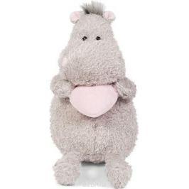 Maxitoys Luxury Мягкая игрушка Бегемот с розовым сердцем 25 см
