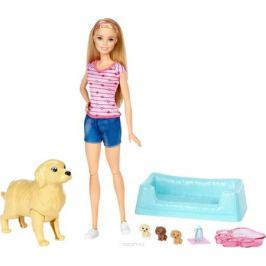 Barbie Игровой набор Кукла и собака с новорожденными щенками