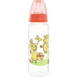 Мир детства Бутылочка для кормления с силиконовой соской от 0 месяцев цвет красный 250 мл