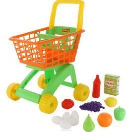 Полесье Игрушечная тележка для магазина с набором продуктов № 8 12 предметов