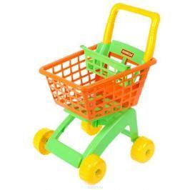 Полесье Игрушечная тележка для супермаркета цвет оранжевый салатовый желтый