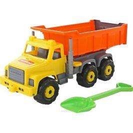 Полесье Самосвал Супергигант + лопата большая цвет оранжевый серый