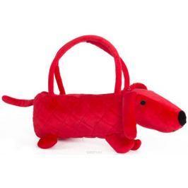 Button Blue Мягкая игрушка Собачка-сумочка цвет красный 35 см