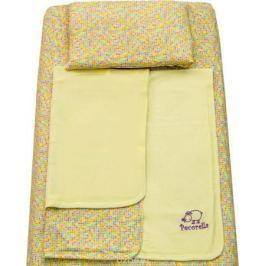 Pecorella Комплект в кроватку Yellow Hearts 3 предмета