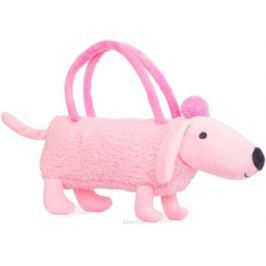 Button Blue Мягкая игрушка Собачка-сумочка цвет розовый 35 см