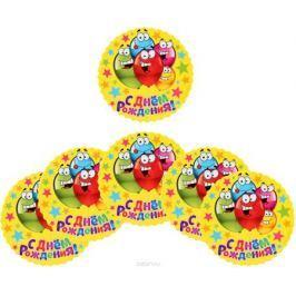 Страна Карнавалия Подставка для стакана С днем рождения веселые шары набор 6 шт размер 10 х 10 см
