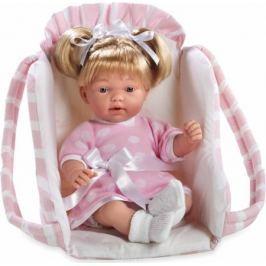 Arias Кукла Девочка Elegance с соской в переносном розовом кресле