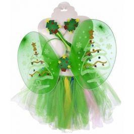 Новогодняя сказка Карнавальный костюм для девочки Елочка цвет зеленый
