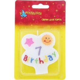 Страна Карнавалия Свеча воск для торта цифра 7 день рождения