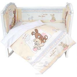 Baby Nice Комплект в кроватку Милый дом 6 предметов цвет бежевый