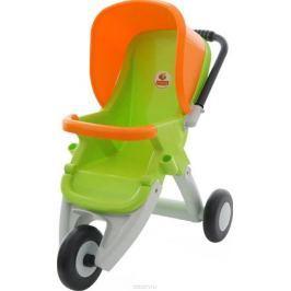 Полесье Коляска для кукол прогулочная трехколесная цвет зеленый оранжевый