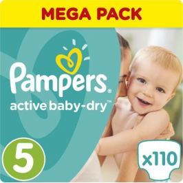 Pampers Подгузники Active Baby-Dry 11-23 кг (размер 5) 110 шт