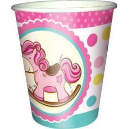 Пати Бум Стакан бумажный Лошадка Малыш цвет розовый 250 мл 6 шт