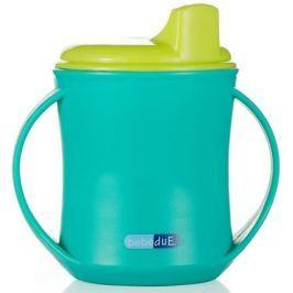 Bebe Due Чашка-поильник 2в1 210 мл цвет бирюзовый салатовый с 18 месяцев