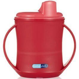 Bebe Due Чашка-поильник 2в1 210 мл цвет розовый красный с 18 месяцев