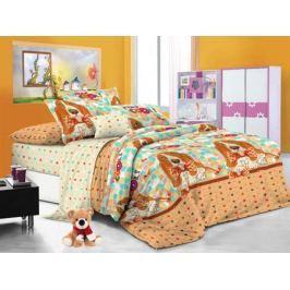 Cleo Комплект детского постельного белья Бассет 1,5 спальный цвет оранжевый