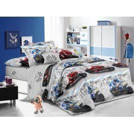 Cleo Комплект детского постельного белья Мотоспорт 1,5 спальный цвет серый