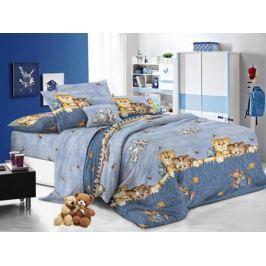 Cleo Комплект детского постельного белья Котята 1,5 спальный цвет синий
