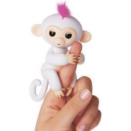Fingerlings Интерактивная игрушка Обезьянка София цвет: белый, 12 см