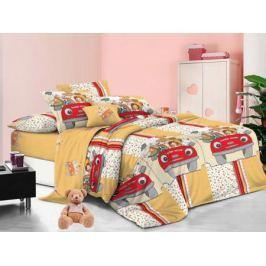 Cleo Комплект детского постельного белья Веселая компания 1,5 спальный цвет желтый
