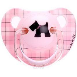 Suavinex Пустышка Scottish от 6 месяцев анатомическая силиконовая цвет розовый