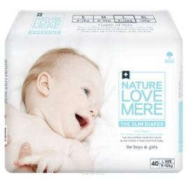 Nature Love Mere Подгузники Slim Premium от 9 кг 40 шт