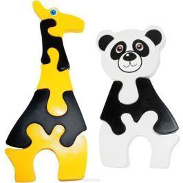Пластмастер Пазл для малышей Жираф и панда