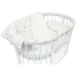 Baby Nice Комплект постельного белья детский Лесная поляна цвет розовый C531/1