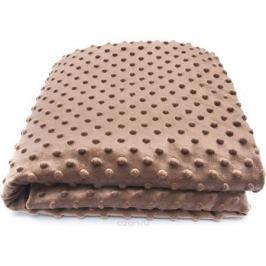 Сонный гномик Плед для новорожденных Горошек цвет коричневый, 90 см х 90 см