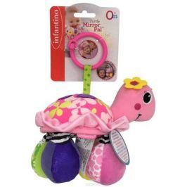 Infantino Игрушка-подвеска Черепашка цвет розовый