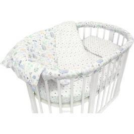 Baby Nice Комплект постельного белья детский Лесная поляна цвет голубой C531/1