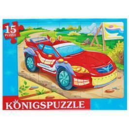 Konigspuzzle Пазл-рамка для малышей Гоночная машинка