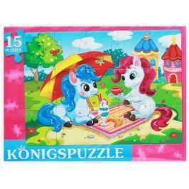Konigspuzzle Пазл-рамка для малышей Забавные пони