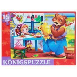 Konigspuzzle Пазл-рамка для малышей Маша и медведь-1
