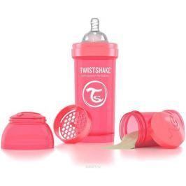 Twistshake Бутылочка антиколиковая с контейнером для сухой смеси и соской Dreamcatcher от 2 месяцев цвет персиковый 260 мл