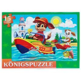 Konigspuzzle Пазл-рамка для малышей Щенки на катере