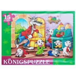 Konigspuzzle Пазл-рамка для малышей Волк и семеро козлят-2