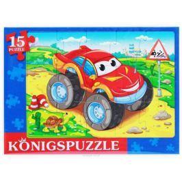 Konigspuzzle Пазл-рамка для малышей Крутой джип