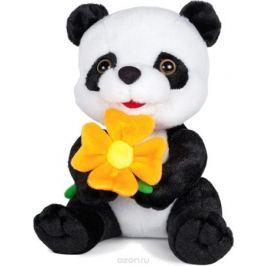 Maxitoys Мягкая озвученная игрушка Панда с цветочком 22 см