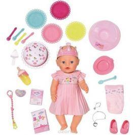 Baby Born Интерактивная кукла Нарядная с тортом