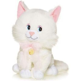 Maxitoys Мягкая озвученная игрушка Котенок Лапушка цвет белый 21 см