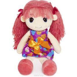 Maxitoys Мягкая кукла Стильняшка с розовыми волосами 40 см