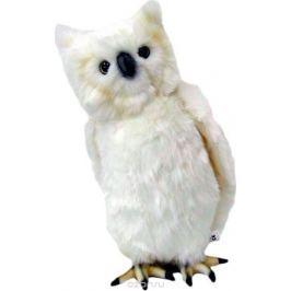 Hansa Мягкая игрушка Сова цвет белый 18 см