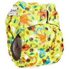 GlorYes! Многоразовый подгузник Premium Жирафы 3-18 кг + два вкладыша